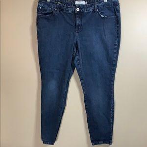 Torrid Blue Skinny Jeans size 22